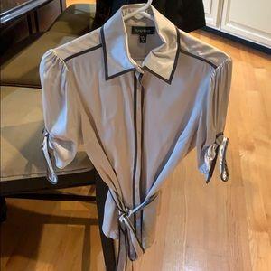 Women's silk top by Bebe.